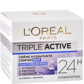 Crème hydratante confort nuit Triple active packaging