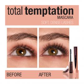Mascara volume Total Temptation - Noir maybelline avant après