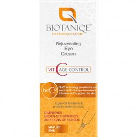 Crème yeux rajeunissante Vit C age control biotaniqe packaging