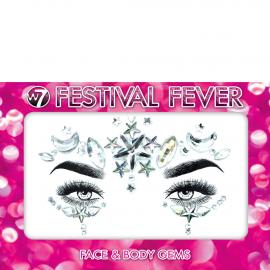 Bijoux visage festival fever Crystal couleur argenté
