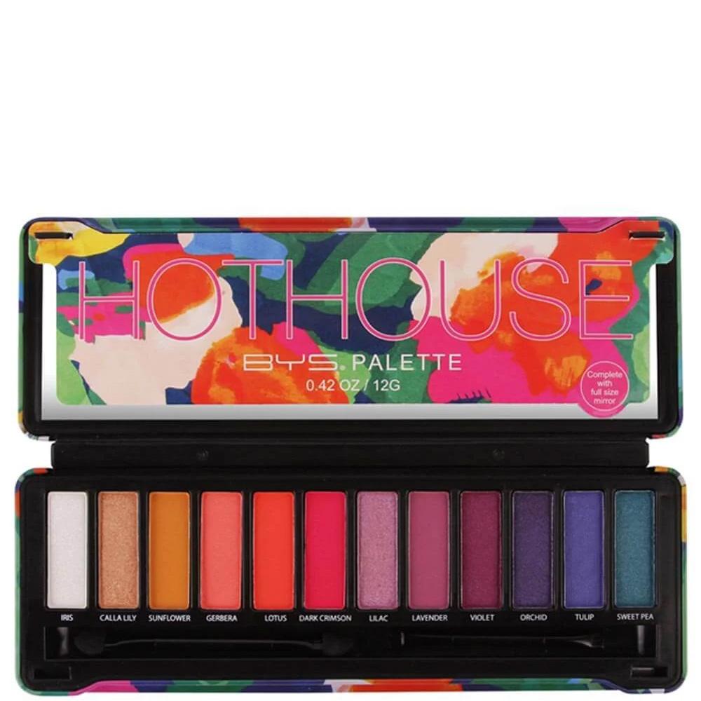 photo de la palette hot house de Bys maquillage ouverte
