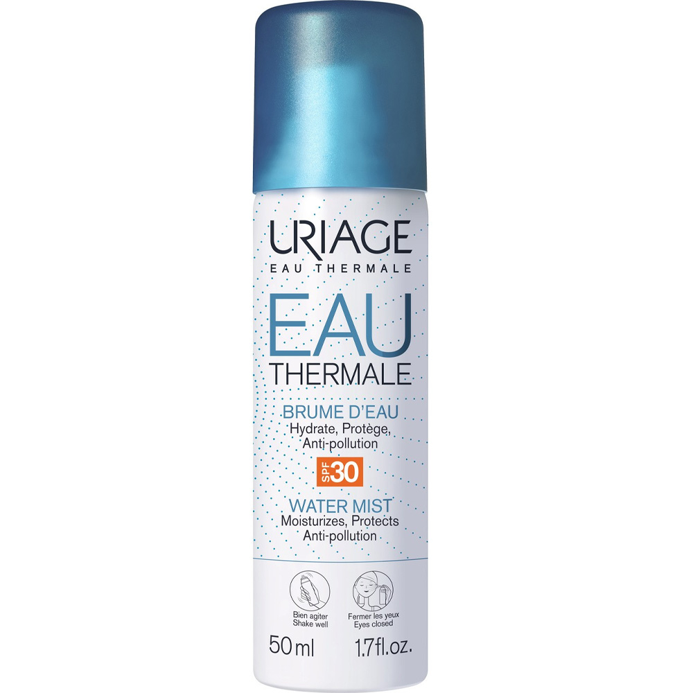 Brume d'eau thermale en spray SPF 30.