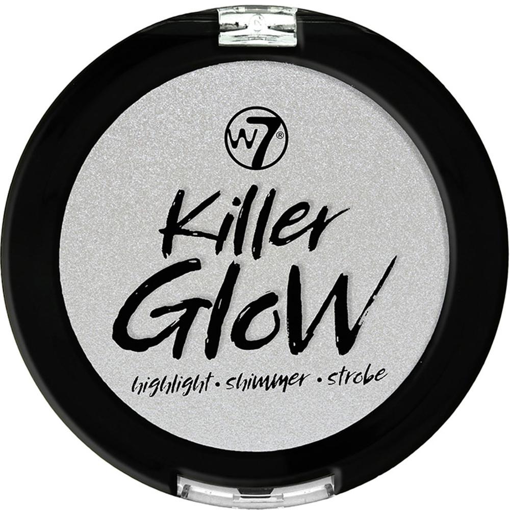 Highlighter compacte argenté Killer Glow de W7.