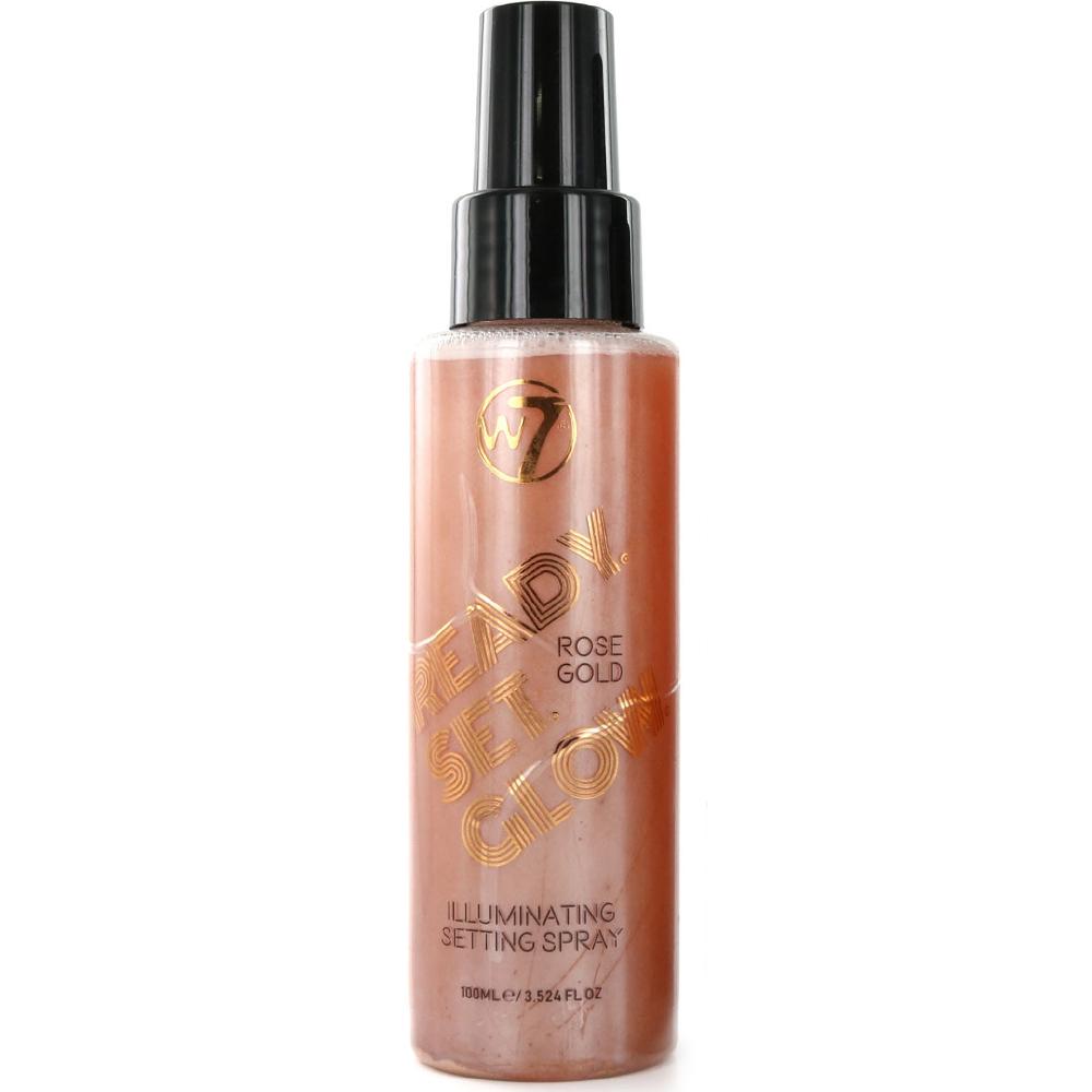 Spray fixateur Maquillage Ready Set Glow Rose Gold W7