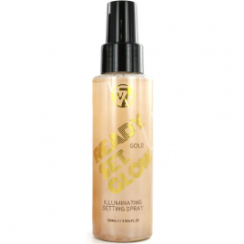 Spray fixateur Maquillage Ready Set Glow Gold W7