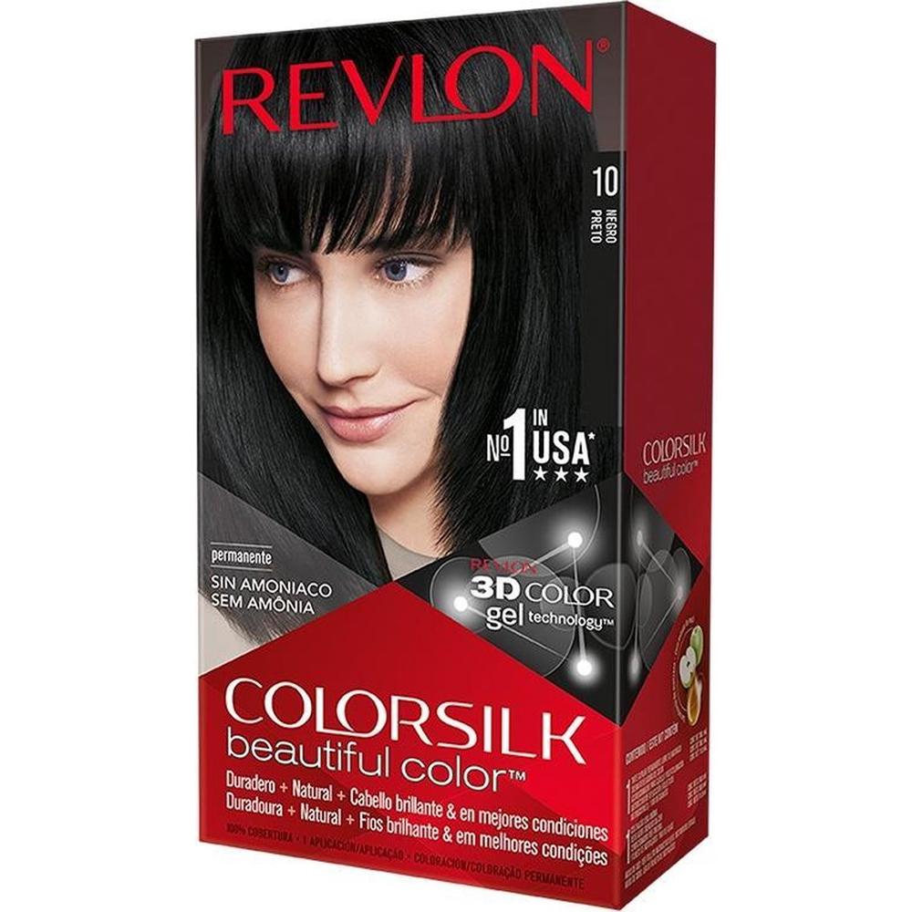 Coloration cheveux Colorsilk - 10 noir