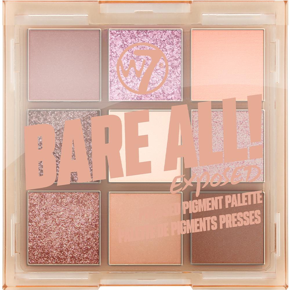 Palette 9 fards à paupières Bare all - Exposed