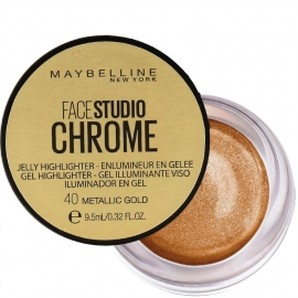 Highlighter gel chrome - 40 Metallic gold maybelline