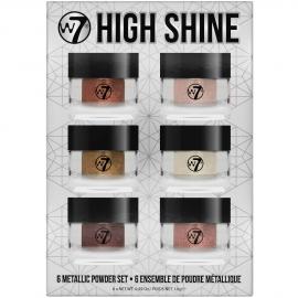 Coffret High Shine - 6 poudres métalliques w7