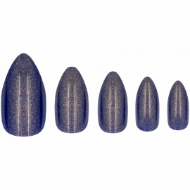 Faux-ongles Glamorous - Midnight Express w7 amandes