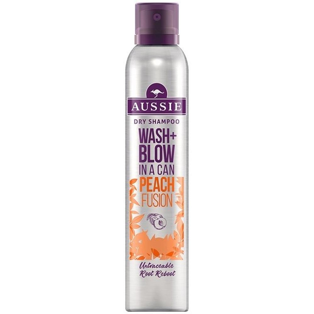 Shampoing sec Wash+Blow Peach fusion Aussie