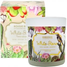 Bougie bijou White stone senteur Vanille stella green