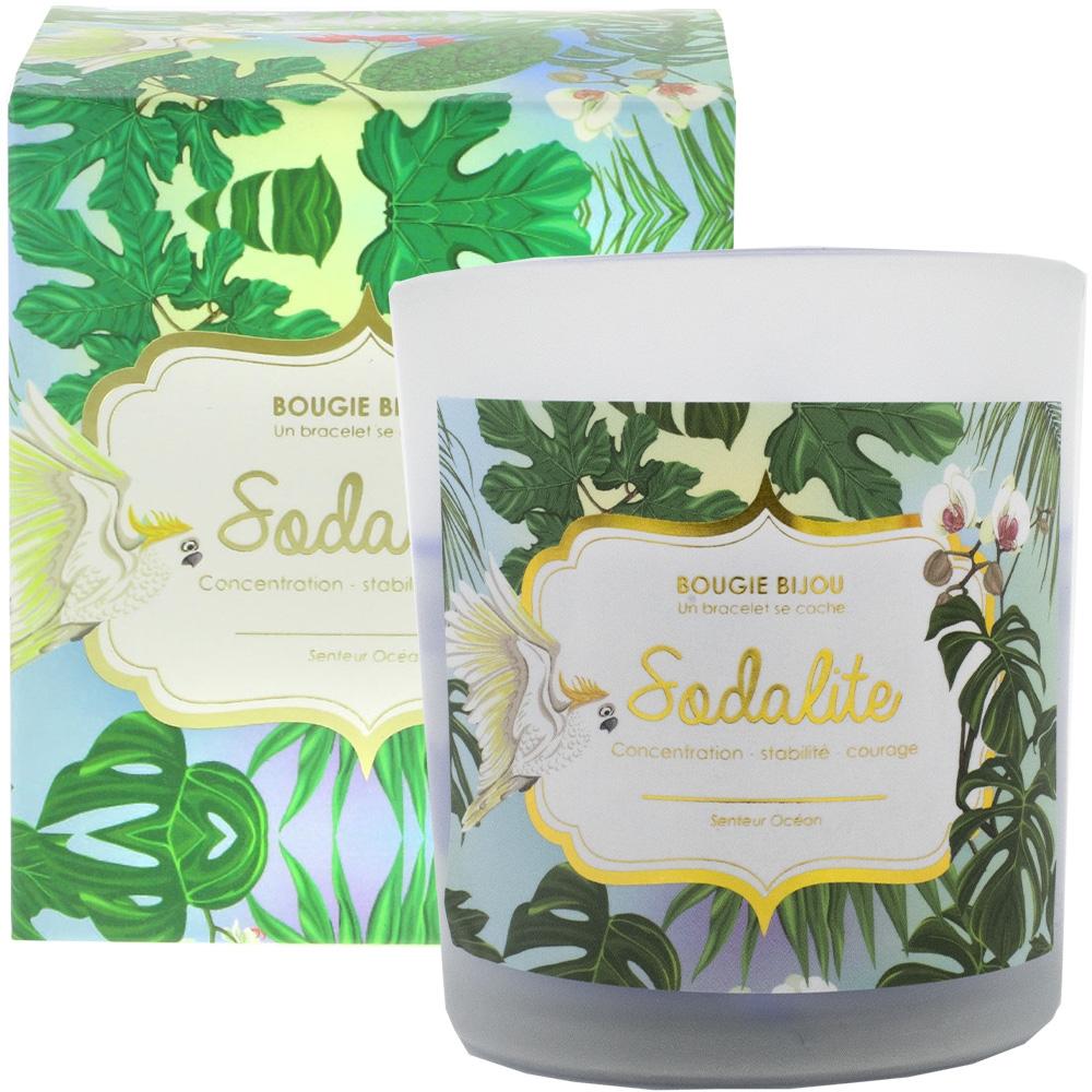 Bougie bijou Sodalite senteur Océan stella green
