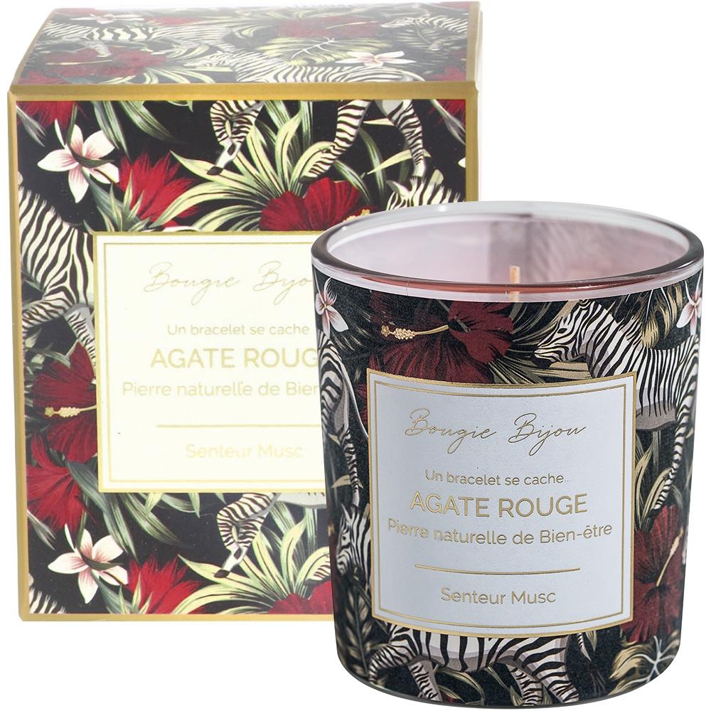 Bougie bijou Agate rouge musc