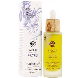 Huile d'argan régénérante - Detox anti-pollution naobay packaging et produit