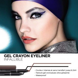 Avantages Gel crayon Infaillible 24h - Waterproof eyeliner - 001 Back to black