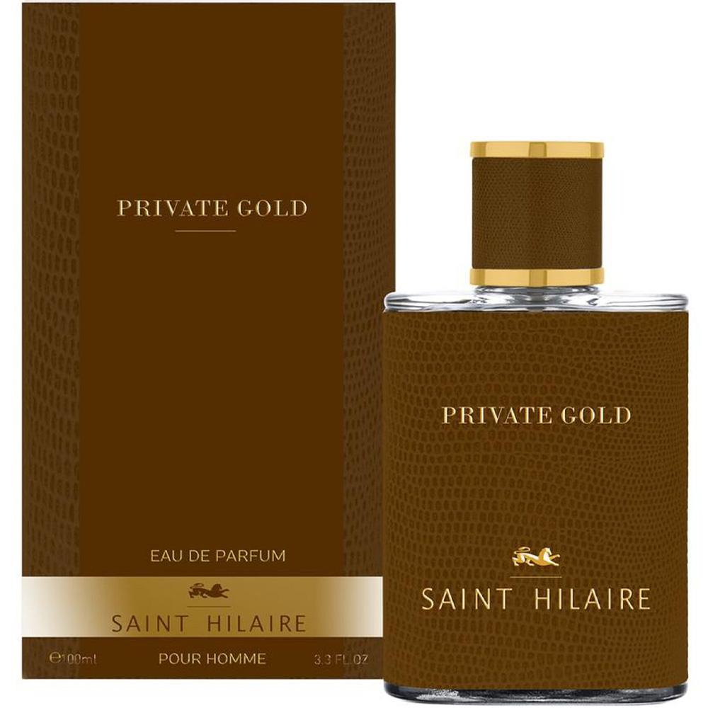 Eau de parfum homme Private gold bruno saint-hilaire packaging