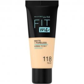 Fond de teint matifiant Fit me ! - 118 Nude Maybelline produit