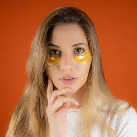 Masque yeux collagène or IDC Insitute masques posés sous les yeux