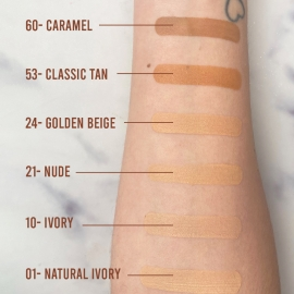 Fond de teint Dream satin - 53 classic tan Maybelline swatchs