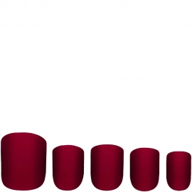 Faux ongles Glamorous - Garnet W7 5 faux-ongles rouges