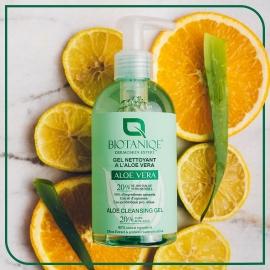 Gel nettoyant visage à l'aloe vera fond citron