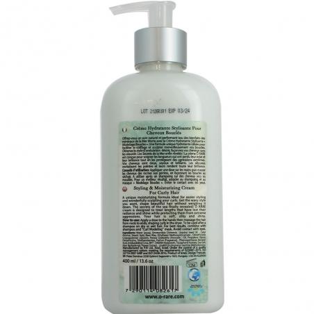 Pot de crème hydratante pour cheveux bouclés dos