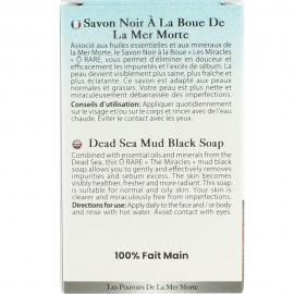 Emballage de savon noir à la boue anti imperfection dos