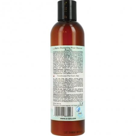"""Bouteille d'après shampoing """"Modelage boucles - Crinière de sirène de marque Ô Rare, vue dos"""