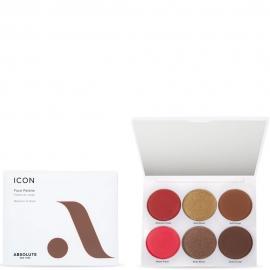Palette visage Icon - Medium to Dark Absolute New-york packaging, fards et miroir