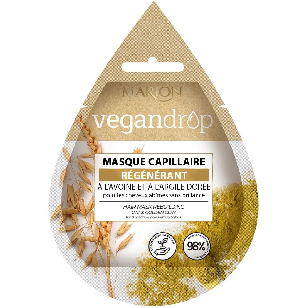 Masque capillaire Vegandrop - Régénérant Marion packaging français