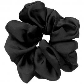 Chouchou noir fini brilant de la marque d'Ana