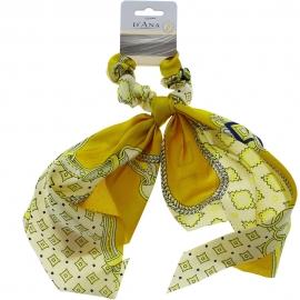 Chouchou foulard - Jaune D'ana