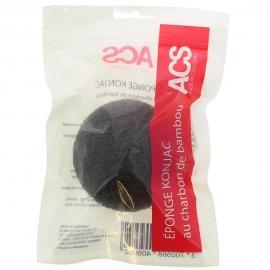Éponge Konjac au charbon de bambou ACS packaging plastique