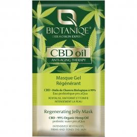 Masque gel régénérant CBD oil Biotaniqe packaging français