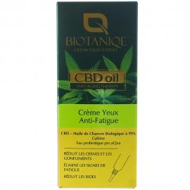 Crème yeux anti-fatigue CBD oil Biotaniqe packaging français