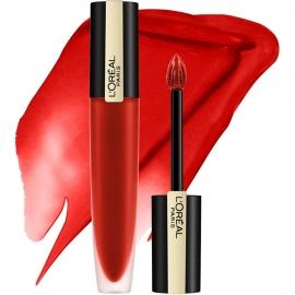 Encre à lèvres matte Rouge signature - 138 Honored L'Oreal embout mousse et texture