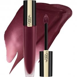 Encre à lèvres matte Rouge signature - 142 Prepared L'Oreal embout mousse et texture