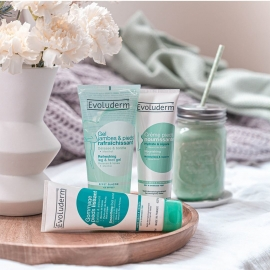 Gommage pieds lissant Evoluderm trio soins pieds
