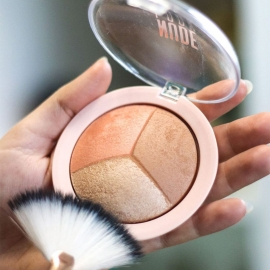 Kit pour contouring Nude Look Golden rose pinceau éventail