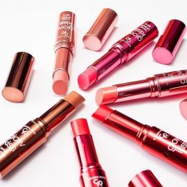 Baumes à lèvres Golden rose - Glow kiss visuel d'ambiance différentes teintes
