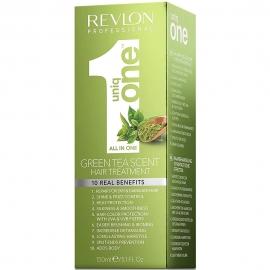 Soin capillaire en spray uniq one au thé vert boîte