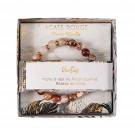 Bracelet pierres naturelles - Agate rouge
