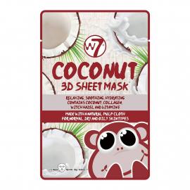 Masque visage en tissu parfum noix de coco de la marque W7.