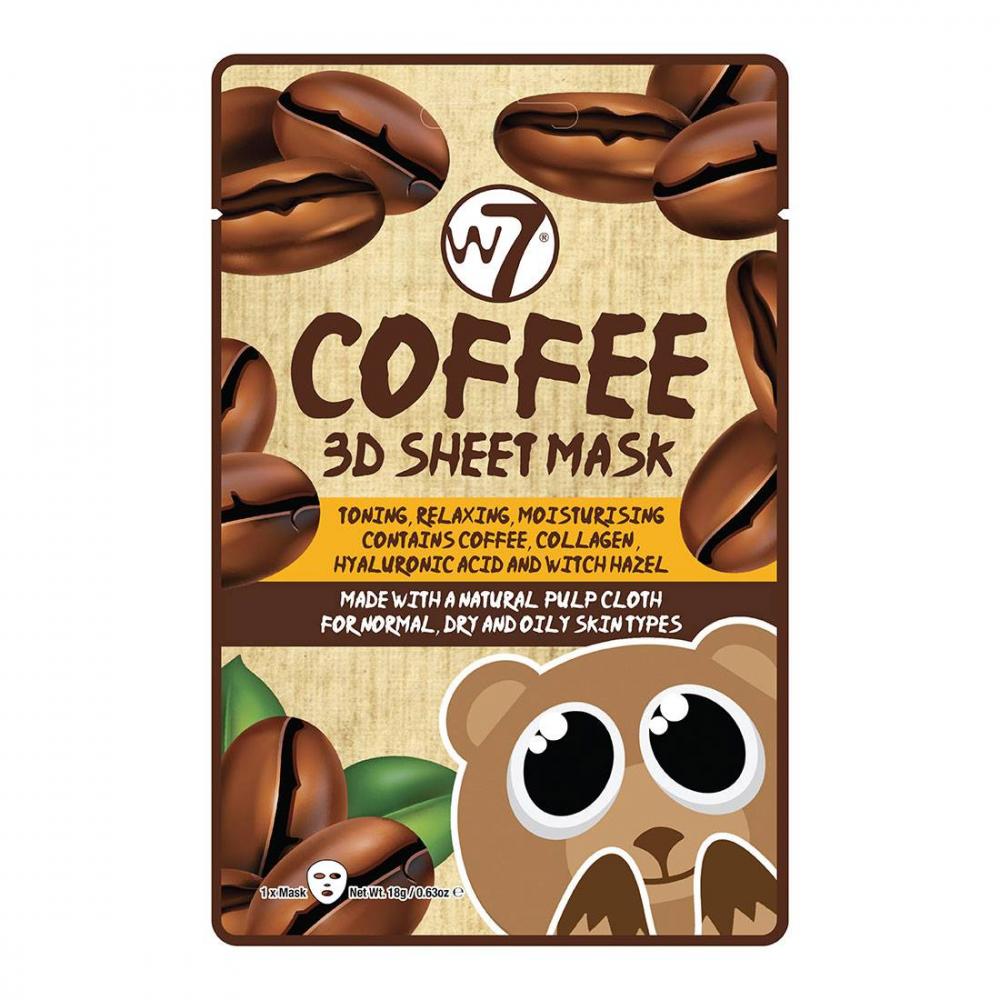 Masque visage tissu 3D coffee