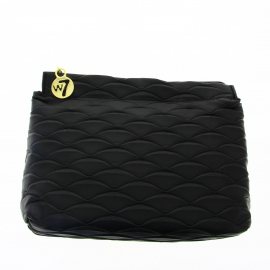 Trousse Black Shell Leather Effect