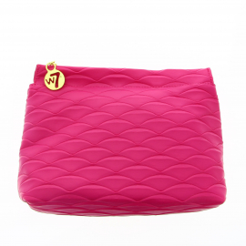 Trousse Pink Sheel Leather Effect