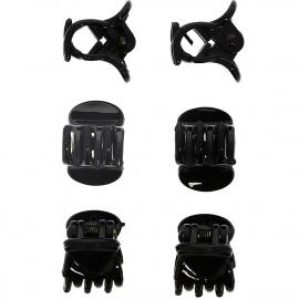 Pinces crabe noires moyennes x6