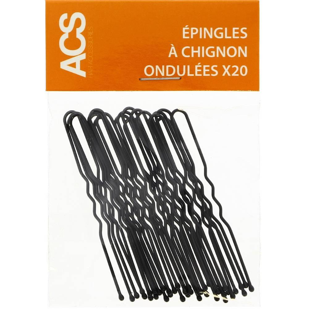 Épingles chignon noires - ACS