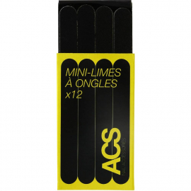 Lot de 12 mini limes à ongles
